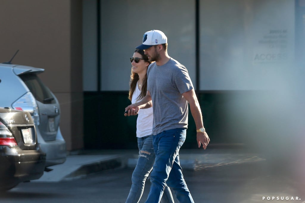 Justin Timberlake and Jessica Biel welcomed their first child back in April, but Wednesday marked the first time the pair have been photographed out together in public since! The couple visited a veterinary hospital in LA and smiled as they headed back to their car. Justin and Jessica have been spotted out separately in the months since Silas was born — he performed at the wedding of Jessica's good friend and she ran errands at the end of May. We have also gotten a few glimpses at their baby boy since they've shared two sweet pictures of Silas over the last few months.