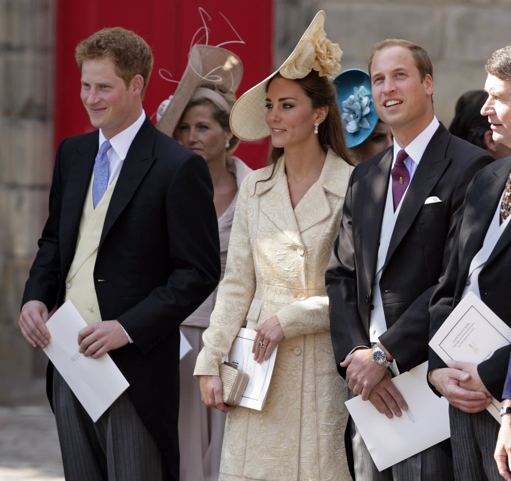 Kate Middleton and Prince William, who were married just a few months earlier, were present for the ceremony, as was Prince Harry.