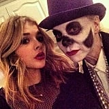 Chloë Grace Moretz took a snap with a buddy in costume.