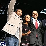 She Gets Between Barack Obama and Usher