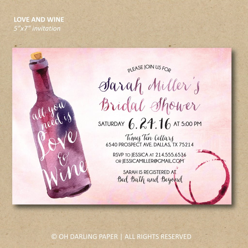 printable wine invitations cheap bridal shower products popsugar