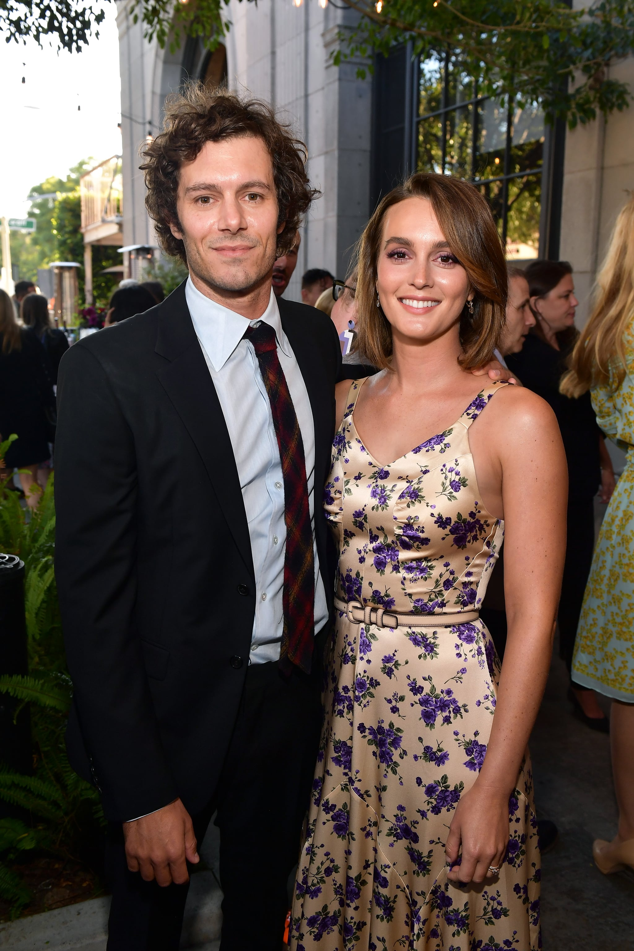 CULVER CITY, CALIFORNIA - AUGUST 19: (L-R) Adam Brody and Leighton Meester attend the LA Screening Of Fox Searchlight's