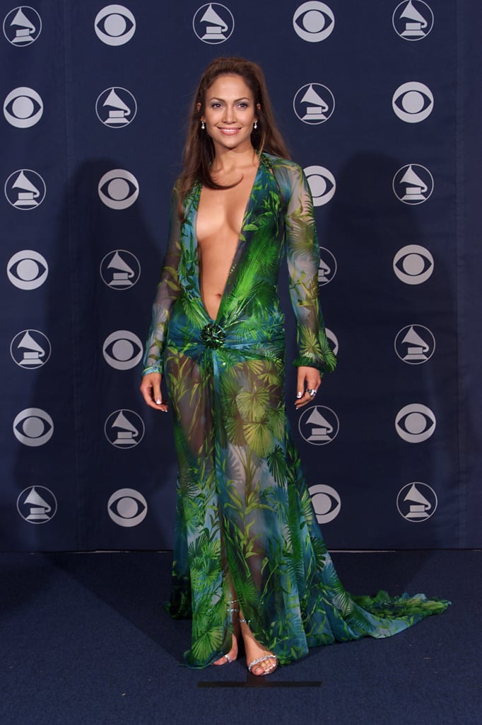 Jennifer Lopez Wearing the Original Versace Dress at the 2000 Grammys