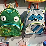 Skip Hop Chameleon and Raccoon Backpacks