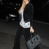 Paris wore an all-black tracksuit when she stepped out in New York City on March 6, 2012.