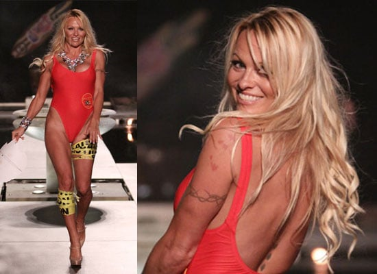 Photos of Pamela Anderson in Baywatch Red Swimsuit, Pamela Anderson in Panto, Pamela Anderson to Star as Genie in Aladdin