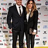 Pip Edwards and Adam Ashley-Cooper at the John Eales Medal in 2011