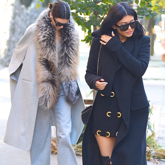 Kendall and Kylie Jenner Wearing Coats