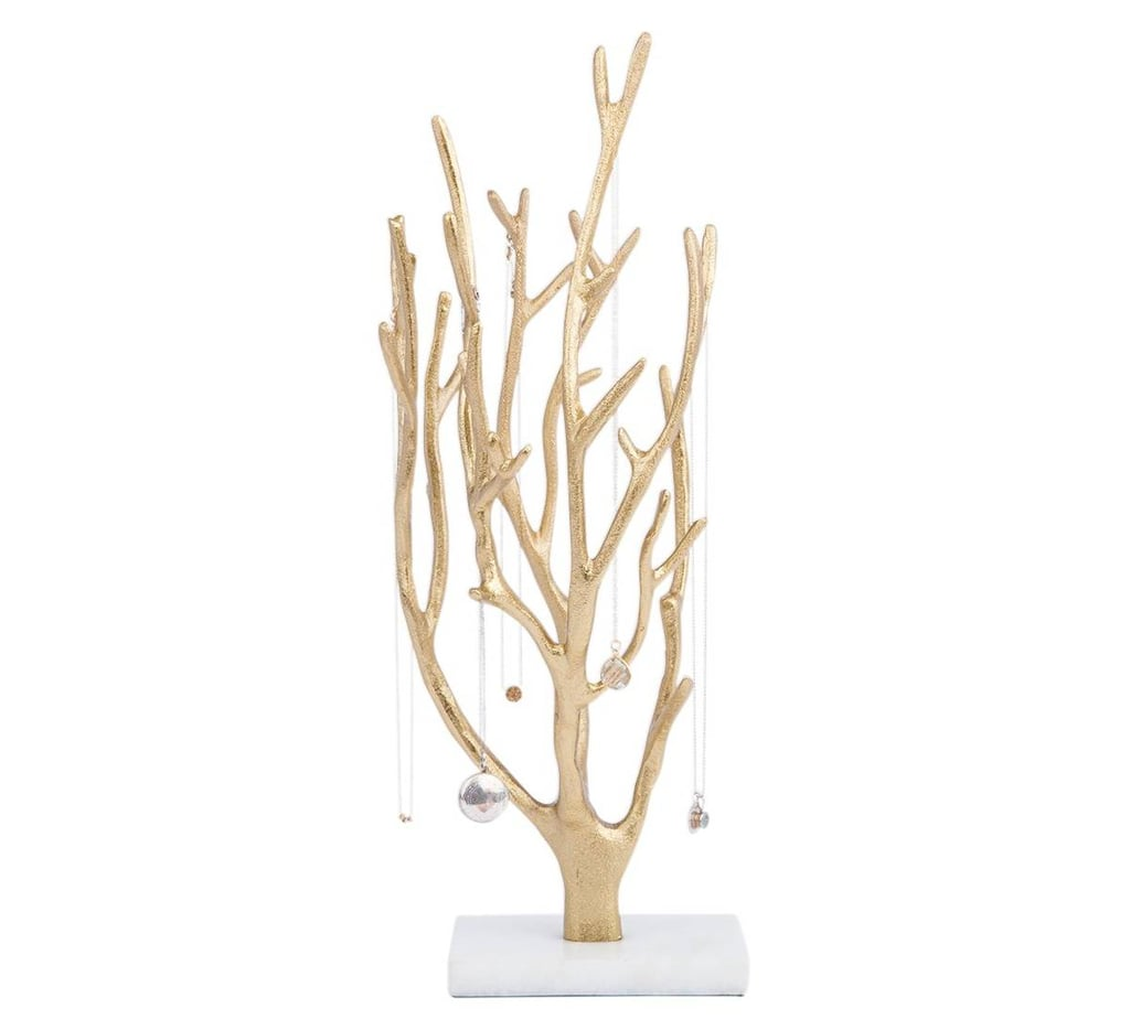 West Emory Gold Coral Jewelry Tree