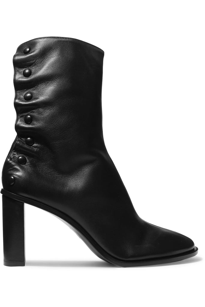 The Row Tea Time Leather Ankle Boots