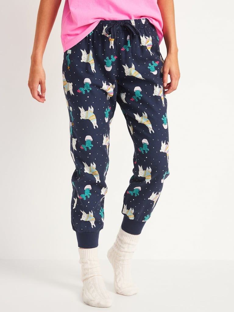 Patterned Flannel Jogger Pajama Pants
