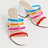 ASOS Design Hanson Clear Block-Heeled Sandals