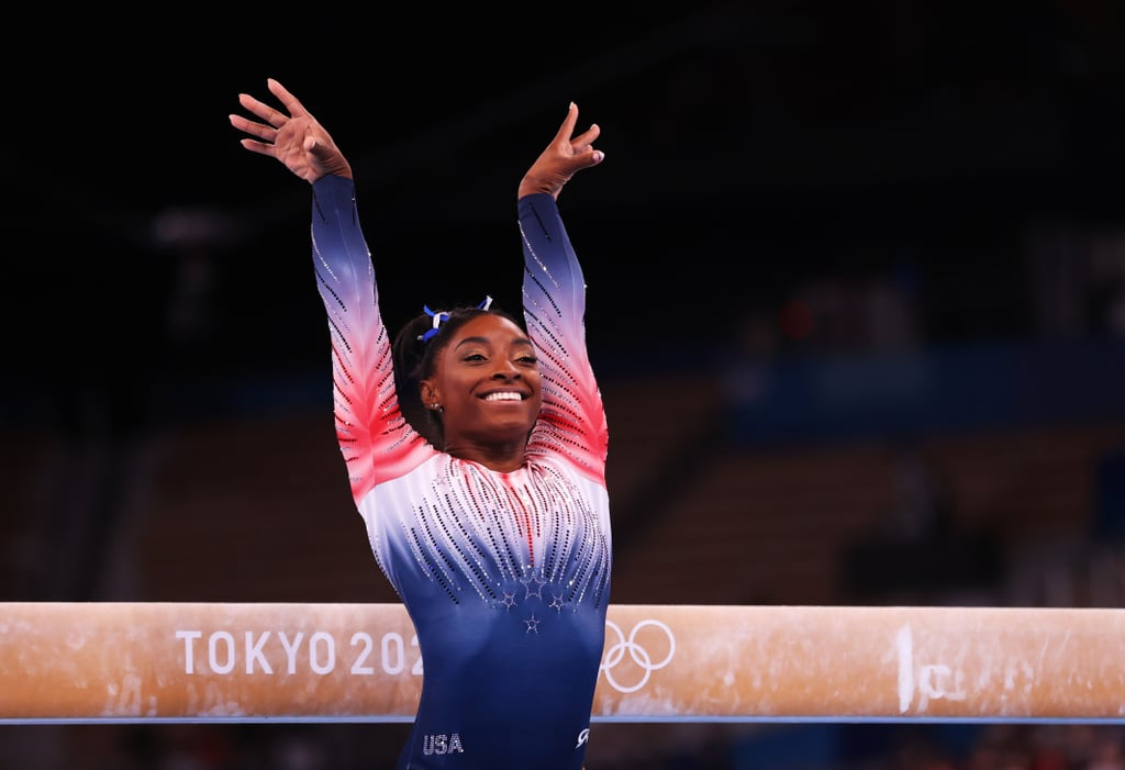 Simone Biles's Double French Manicure at the Tokyo Olympics