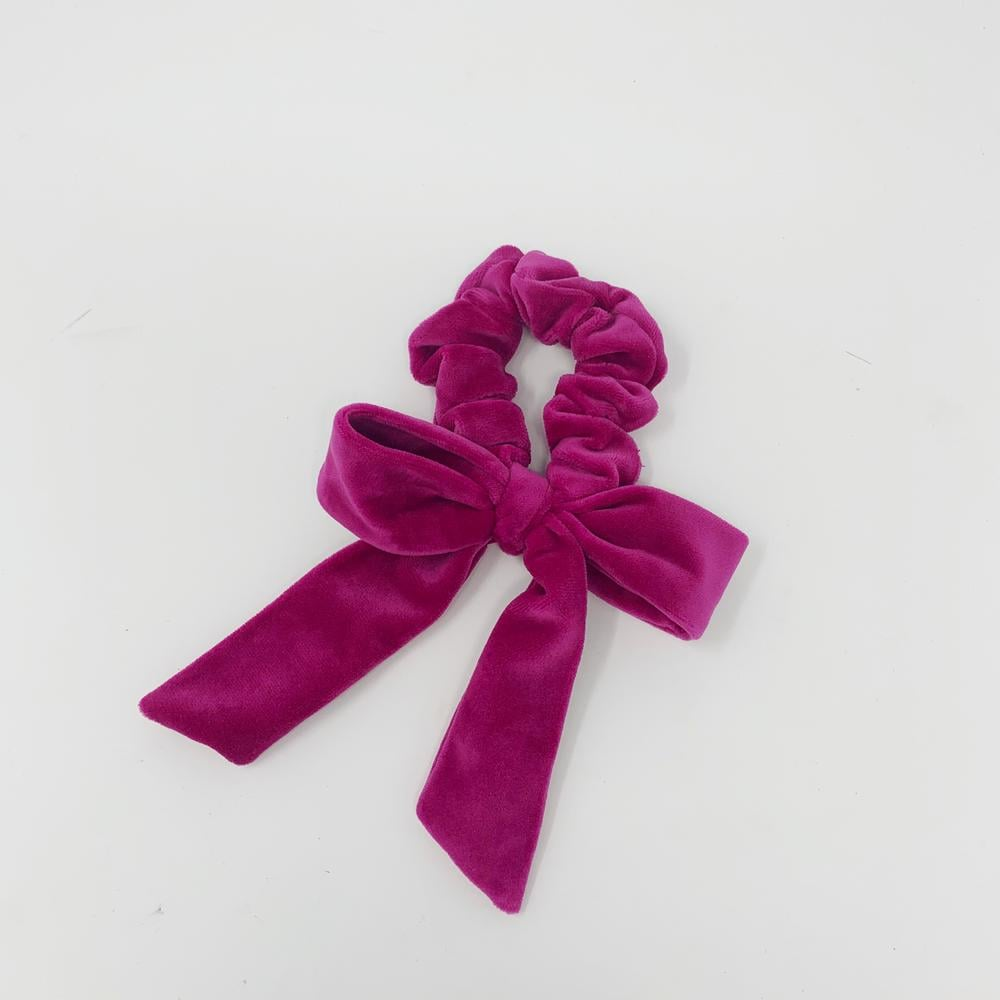 ARossGirl Born in the Sun Shocking Pink Velvet Bow