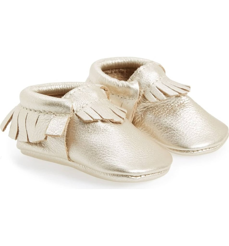 For Infants: Freshly Picked Metallic Leather Moccasin