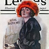 Take a cue from this cover lady and visit a voting booth this November.