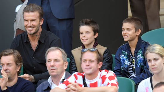 David Beckham Hits Up Wimbledon With Sons Romeo and Cruz While Brooklyn Spends Time With GF
