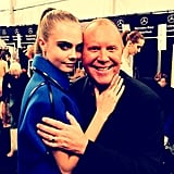 Cara Delevingne rocked a sultry pose next to Michael Kors while backstage at the designer's Fall show. Source: Instagram user michaelkors