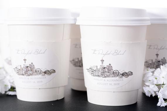 Seattle Wedding Coffee Cups