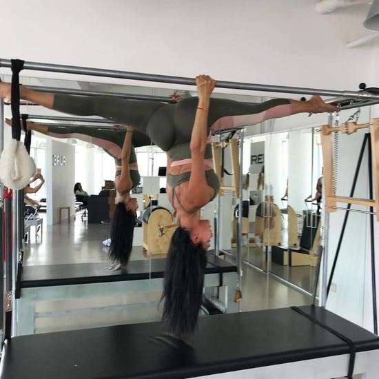 Nicole Scherzinger's First Pilates Class in Dubai