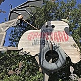 Mater's Junkyard Jamboree ride turns into a graveyard theme.