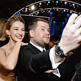 Pictured: James Corden and Yael Grobglas