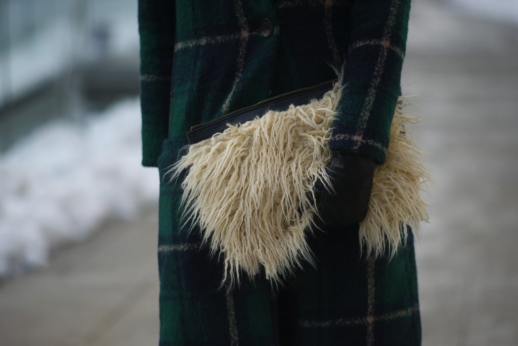 So clutch: this fuzzy carryall.