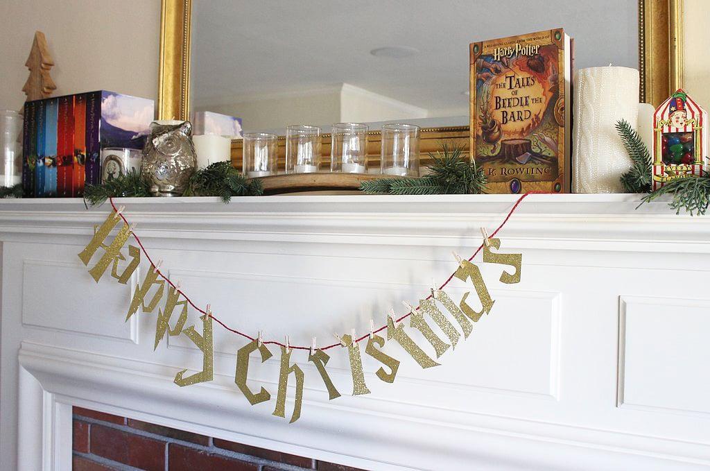 harry potter christmas banner - Happy Christmas Harry
