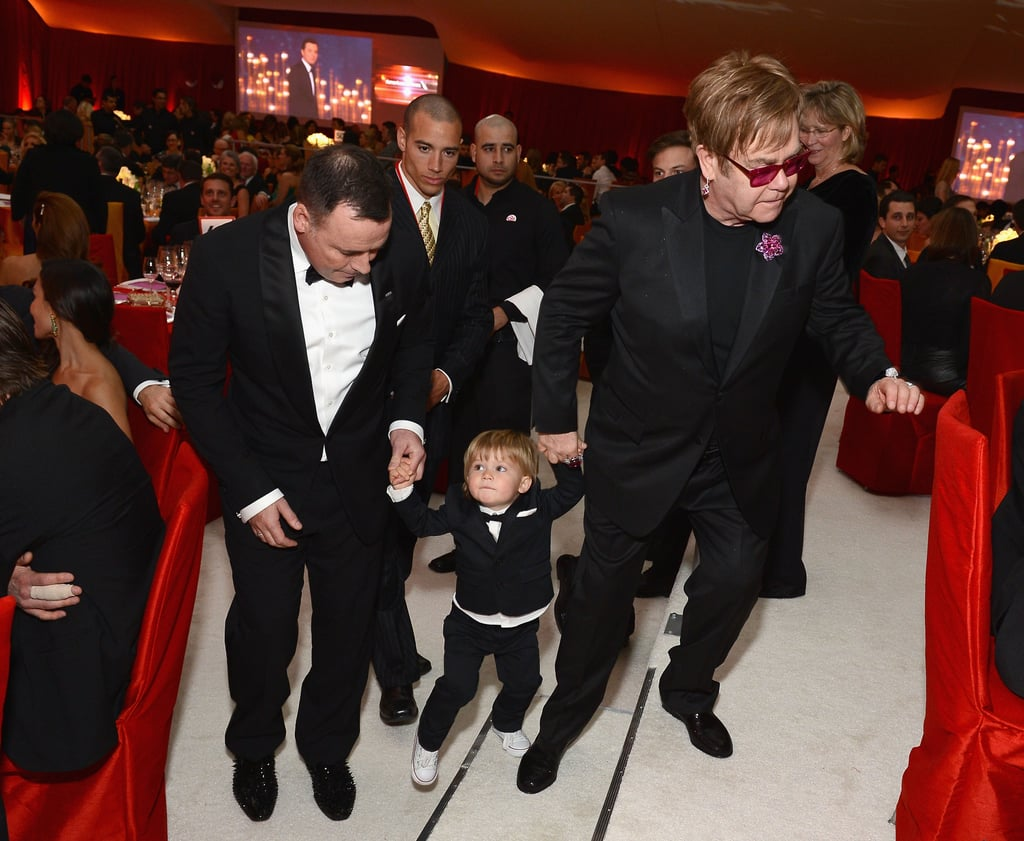 Elton John and David Furnish brought their son, Zach, to the festivities.