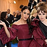 Lena Dunham and Girls showrunner Jennifer Konner wore similar maroon gowns to the event.