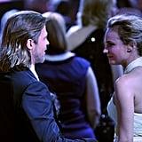 Diane Kruger and Brad Pitt caught up at the 2012 Critics' Choice Movie Awards.