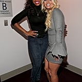 Jennifer Hudson and Britney Spears stepped out in LA to attend the Grammy tribute to Whitney Houston.