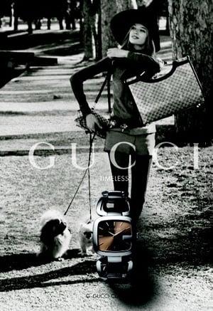Gucci 2010 Spring Watch Ad Campaign Featuring Veruschka