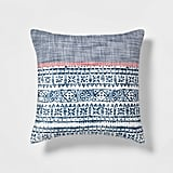 Get the Look: Red, White, & Blue Block-Print Throw Pillow