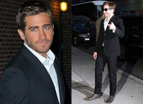 Jake Gyllenhaal Arriving at The Late Show