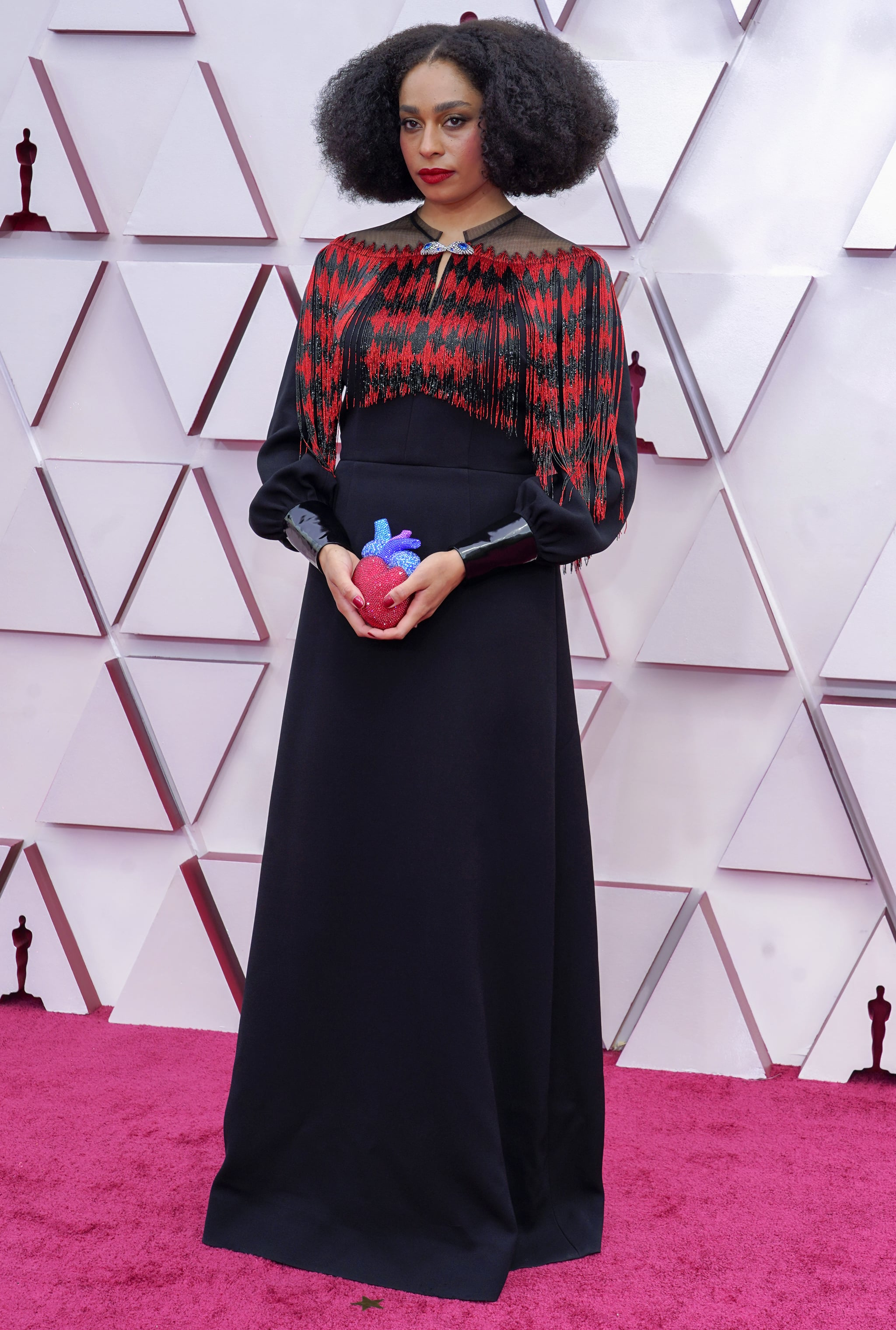 Celeste Waite at the 2021 Oscars | We'd Like to Thank the Academy For Letting Us Witness These 2021 Oscars Red Carpet Looks | POPSUGAR Fashion Photo 19