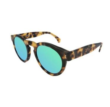 Illesteva Leonard Tortoise Sunglasses in Green ($177)