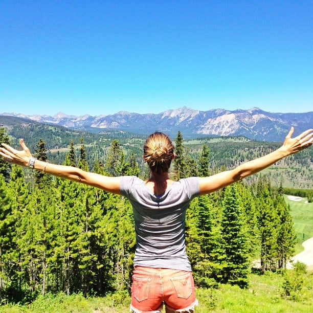 "Gisele Bündchen bid good morning to ""Mother Earth."" Source: Instagram user giseleofficial"