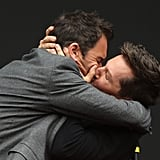 Eric McCormack and Sean Hayes Kissing Will and Grace Event