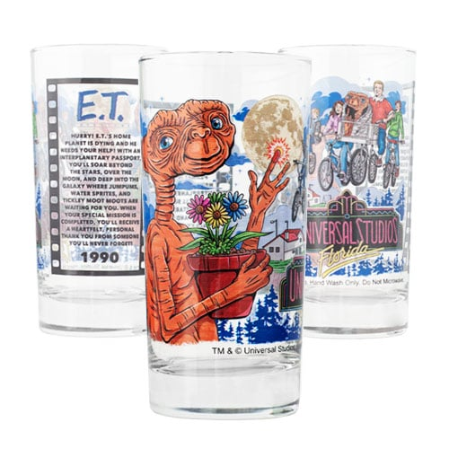 Universal Studios Classic Rides Collectible Drinking Glasses