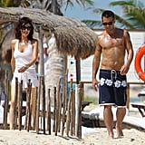 Colin Farrell was shirtless in Cancun.
