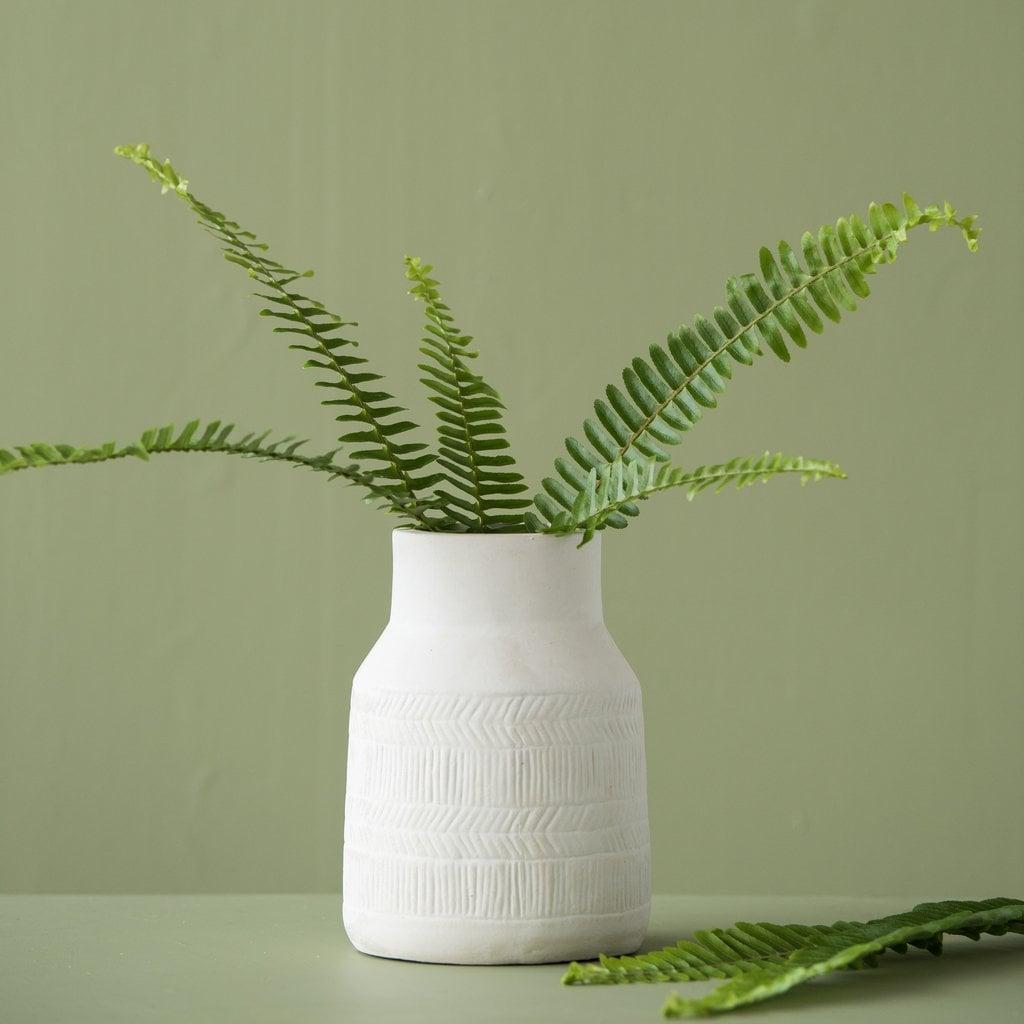 Zoe Herringbone Ceramic Vase