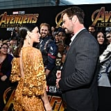 Pictured: Evangeline Lilly and Chris Hemsworth