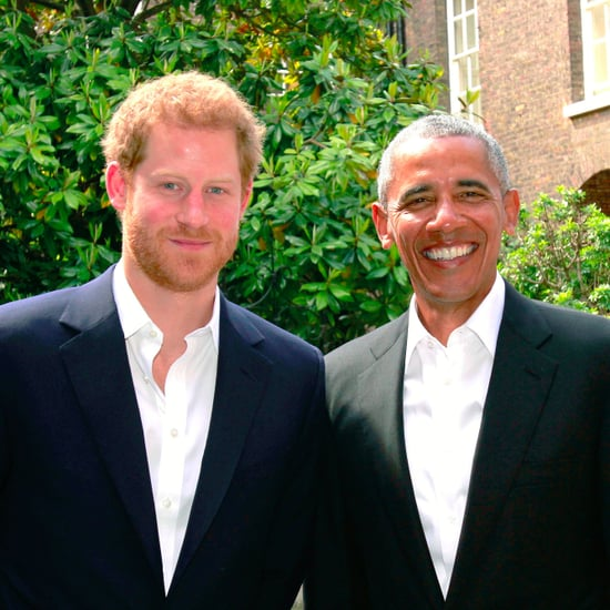 Prince Harry and Barack Obama at Kensington Palace