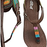 Add a touch of exotic personality to your classic items with these colorful beaded sandals.  Diba Jelly Bean Sandal ($59)