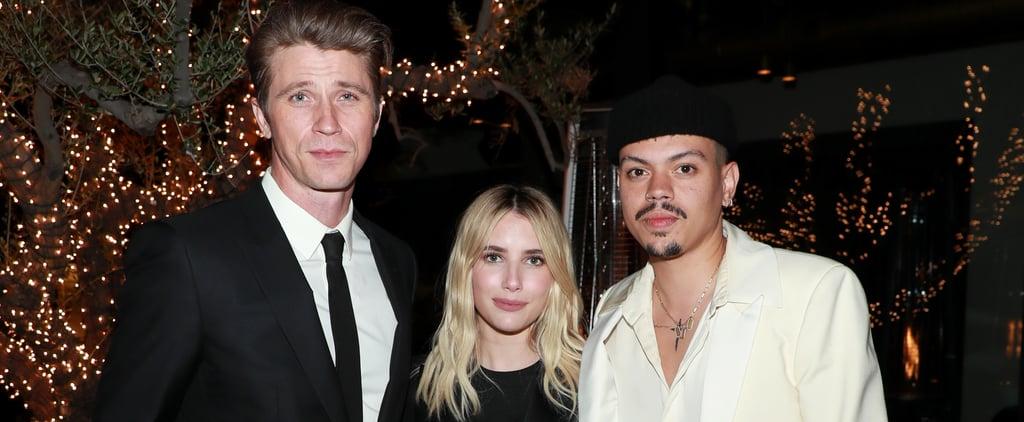 Emma Roberts's Black Minidress at Oscars Watch Party 2021