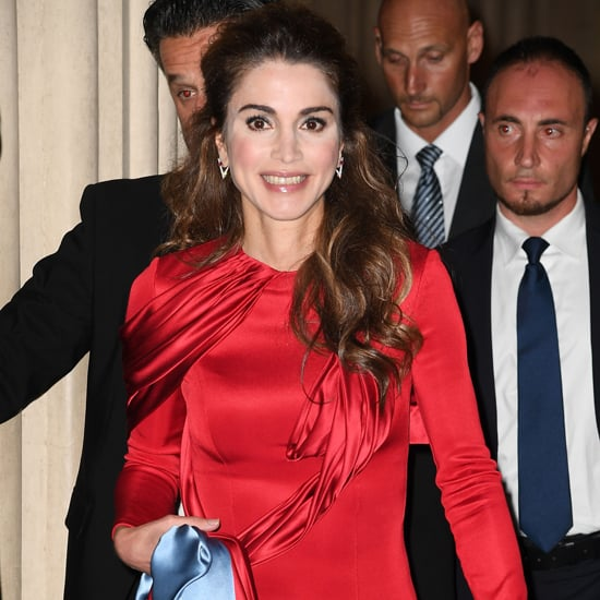 Queen Rania Versace Dress at Celebrity Fight Night 2016