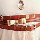 Belt With Glitter Details
