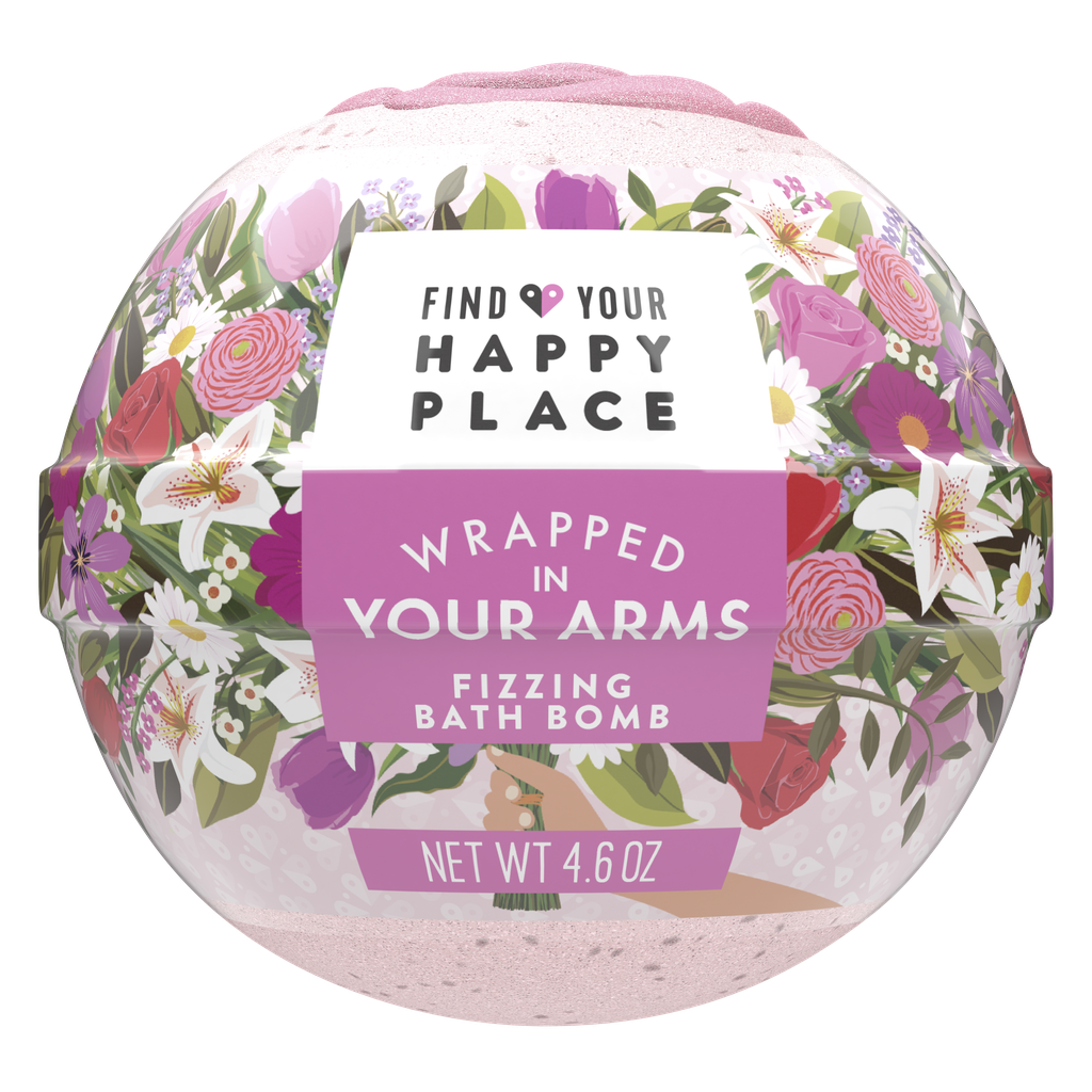 Find Your Happy Place Fizzing Bath Bomb