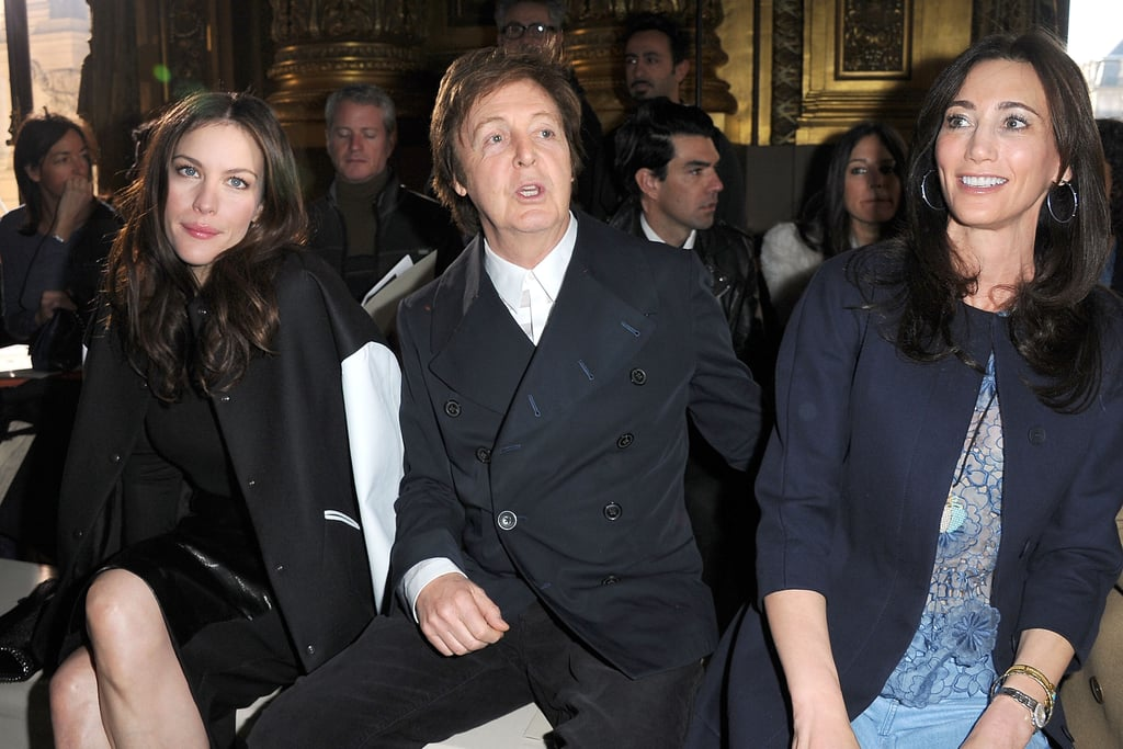 From Left Liv Tyler Paul McCartney And Nancy Shevell At Stella